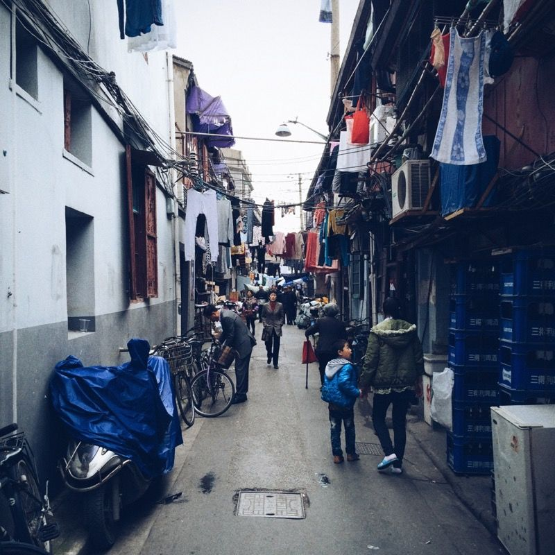Narrow local alley in Shanghai