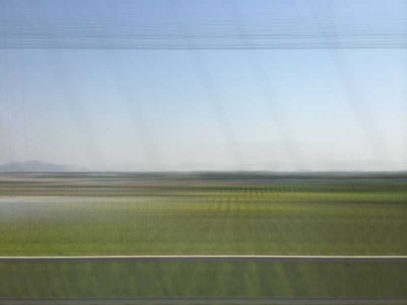 Shutter dragged photo going 310 km/h