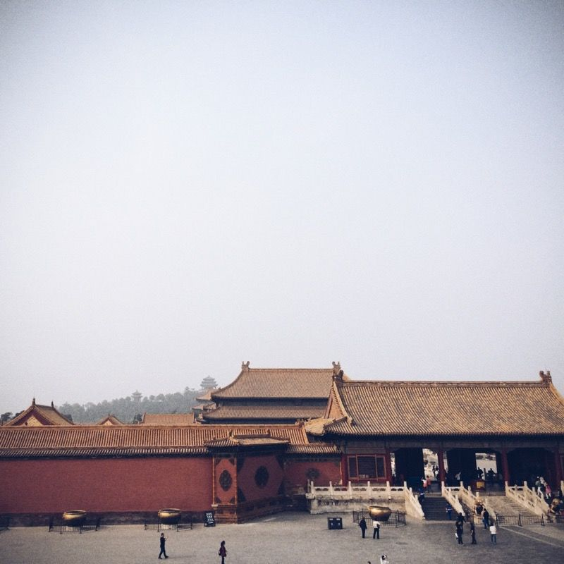 Inside the Forbidden City, aka the Palace Museum