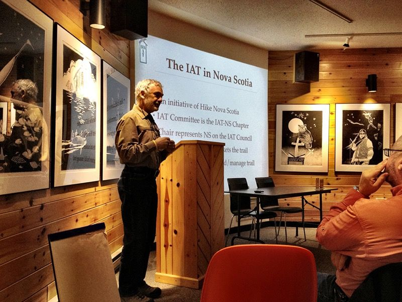 Jim Vance discussing the Internation Appalachian Trail