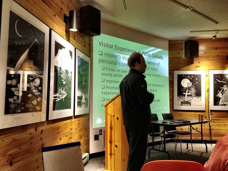 Andrew from Keji discussing the challenges facing Parks Canada