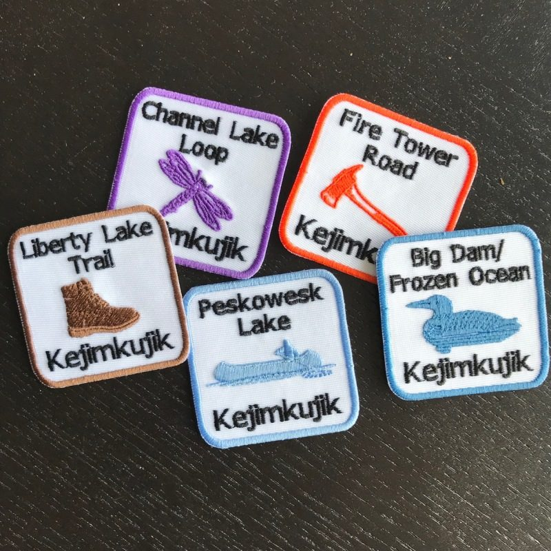 Badges from Keji hikes I've completed