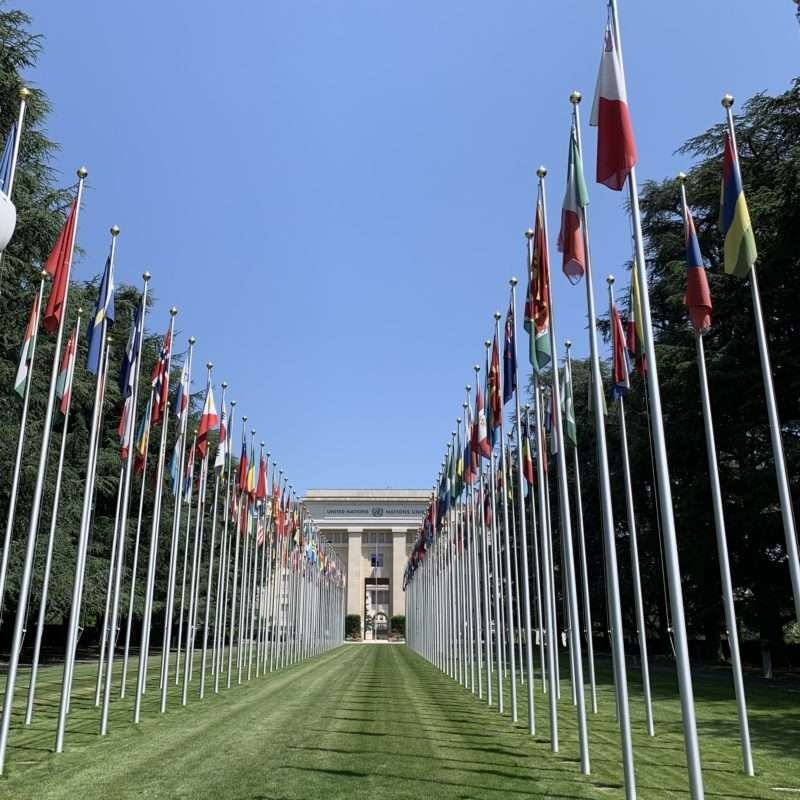 City walk to the UN Geneva