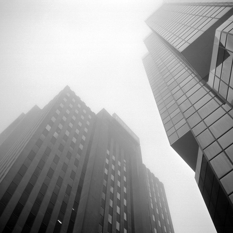 BMO Building in fog