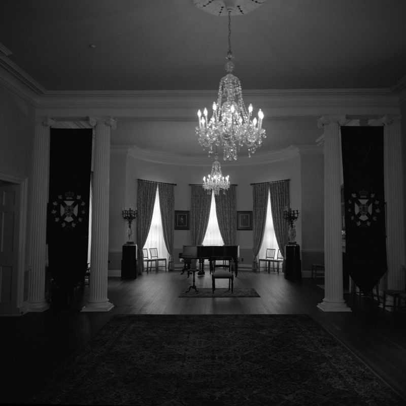 Reading chair and piano, Government House
