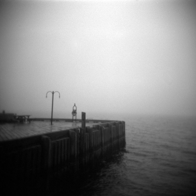 Wharf light in fog