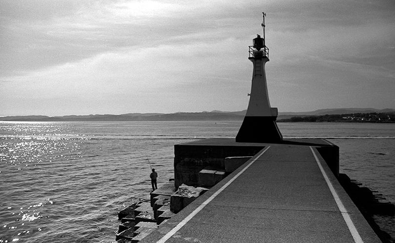 Lighthouse and Fisherman, Ogden Point, Victoria, BC