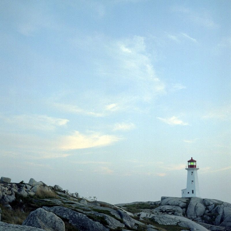 Sunset, Peggy's Cove Lighthouse (September 2007)