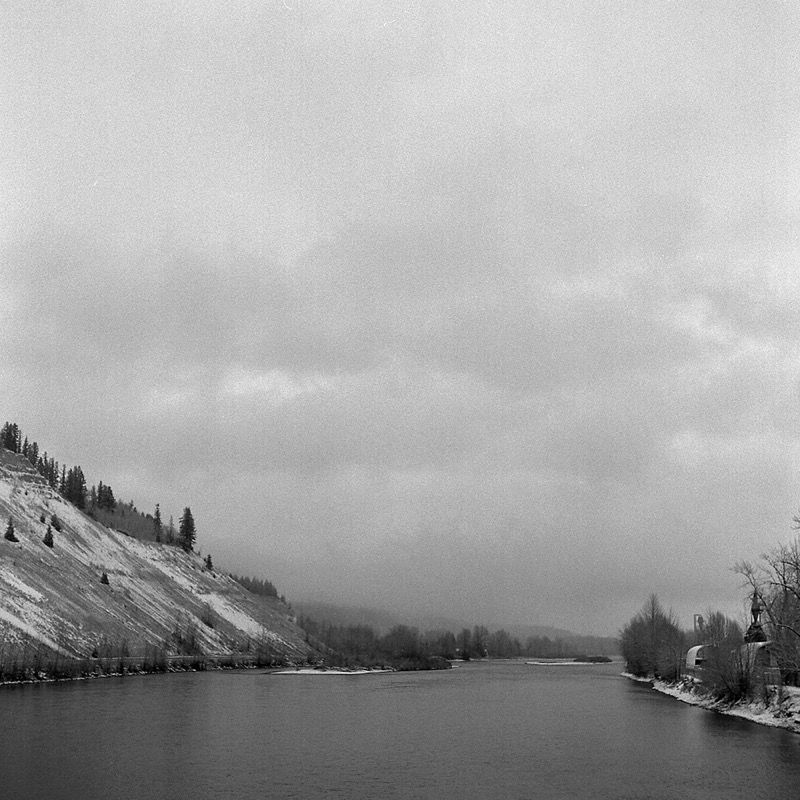 Snow over Nechako River