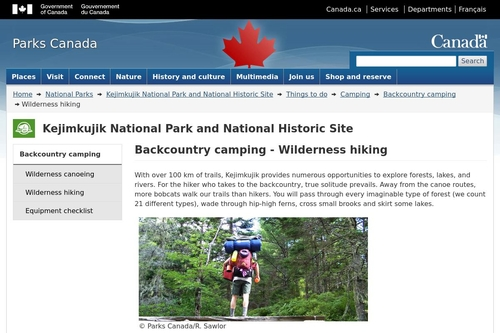 Backcountry camping - Wilderness hiking - Kejimkujik National Park and National Historic Site