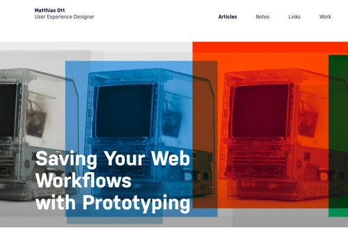 Saving Your Web Workflows with Prototyping · Matthias Ott – User Experience Designer
