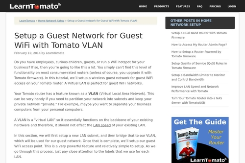 Setup a Guest Network for Guest WiFi with Tomato VLAN