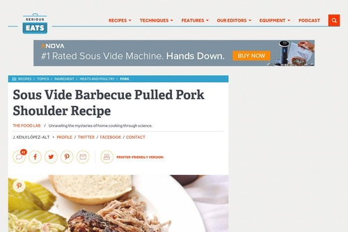 Sous Vide Barbecue Pulled Pork Shoulder Recipe | Serious Eats