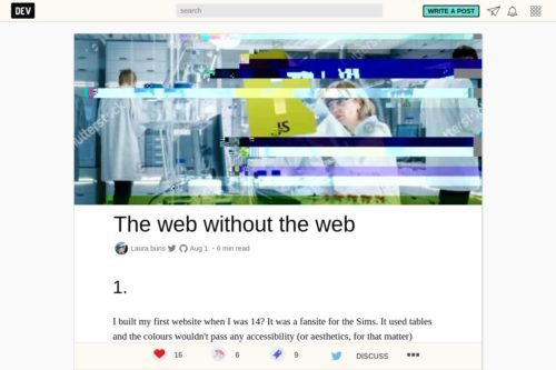 The web without the web
