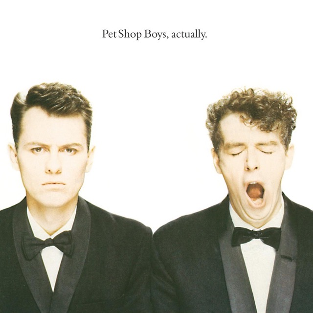 Album cover for Actually by Pet Shop Boys